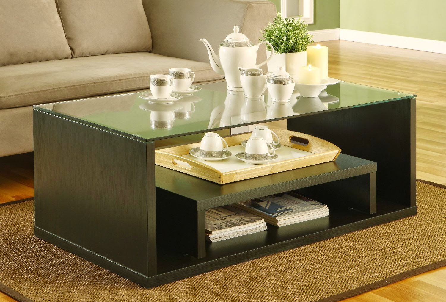 Glass Coffee Tables Glass Table Top - Cheap modern coffee table set