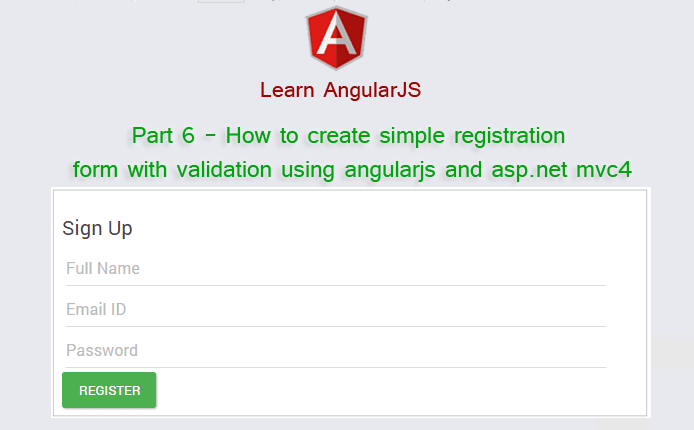 Part 6 - How to create simple registration form with validation