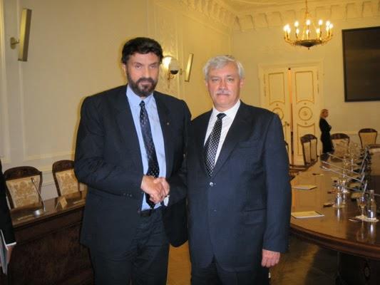 Με τον κυβερνήτη της Αγίας Πετρούπολης κ. Γκεόργκι Πολταβτσένκο