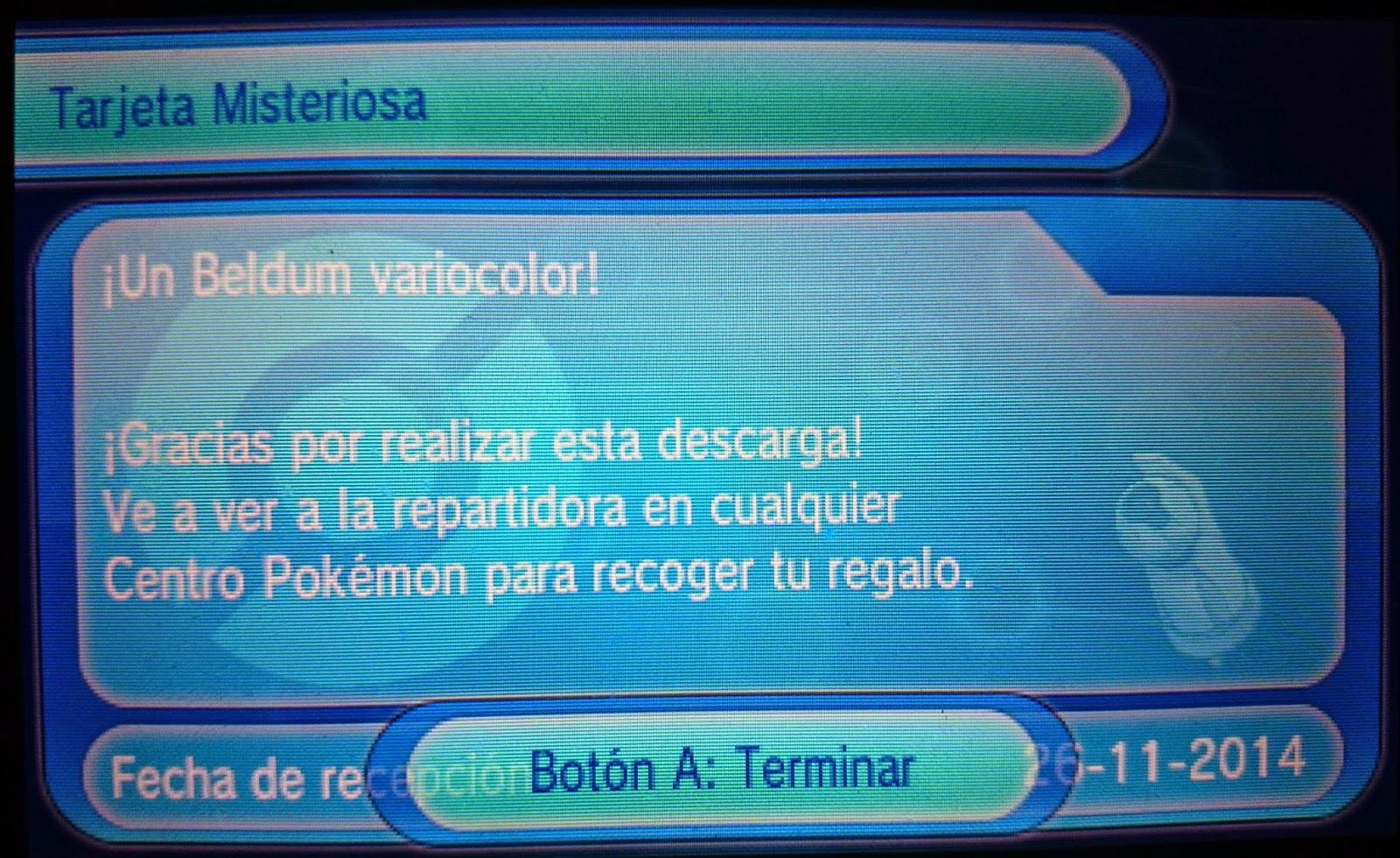 pokemon zarifo alfa rubi omega regalo misterioso