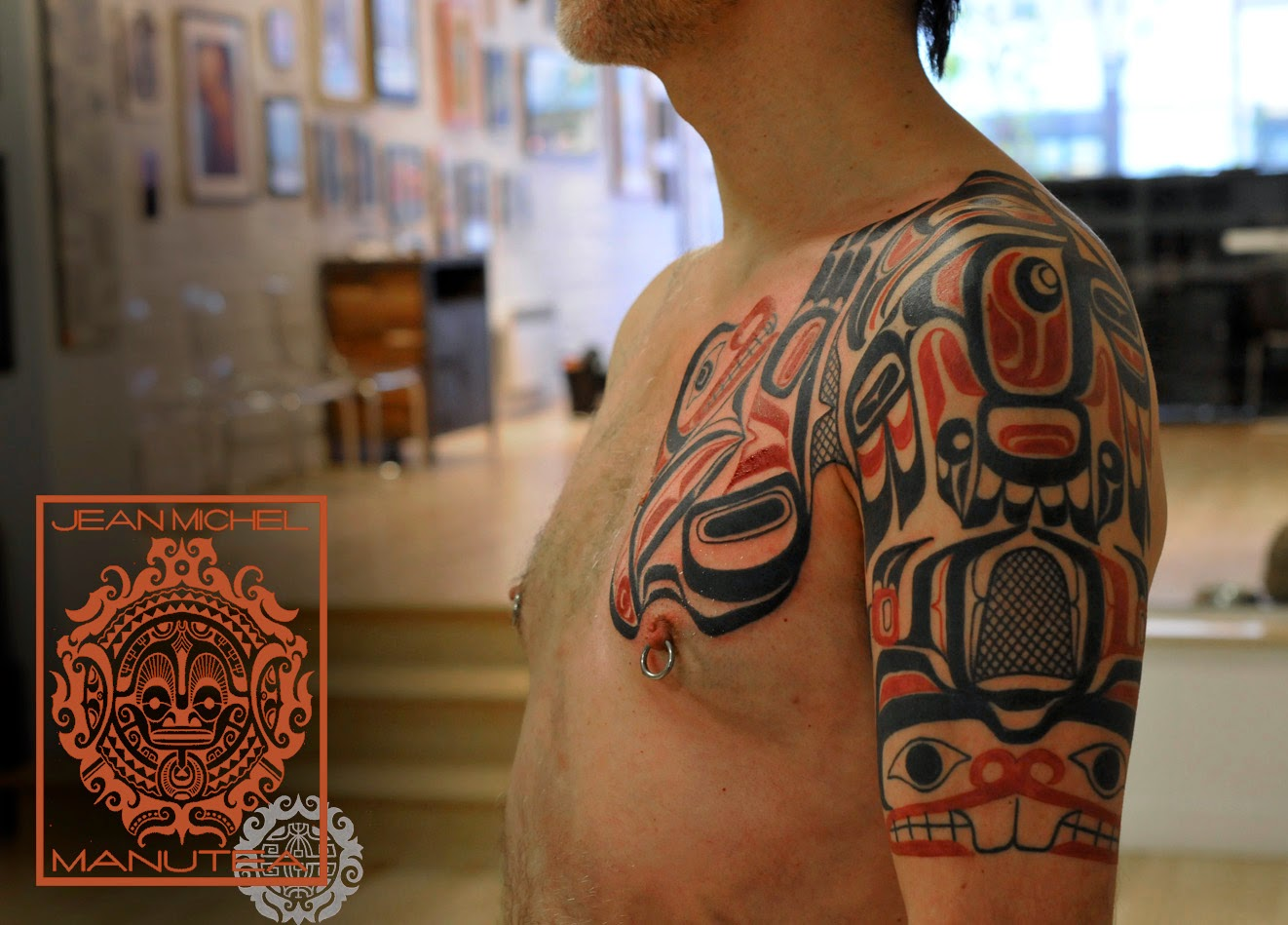 tatouage polynesien polynesian tattoo haida northwest art. Black Bedroom Furniture Sets. Home Design Ideas
