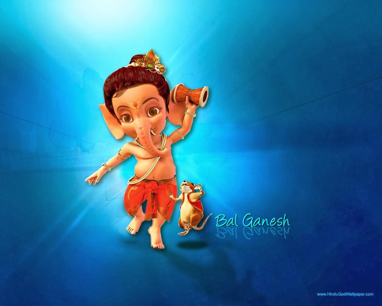BAL GANESHA   Hindu God Wallpapers Download