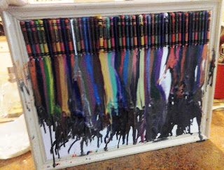 Melted Crayon Art on Upcycle Fever