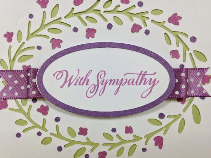Simple, but elegant Sympathy card closeup