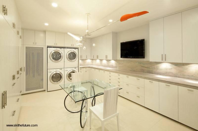 Arquitectura de Casas Lavadero de ropa en residencia de lujo