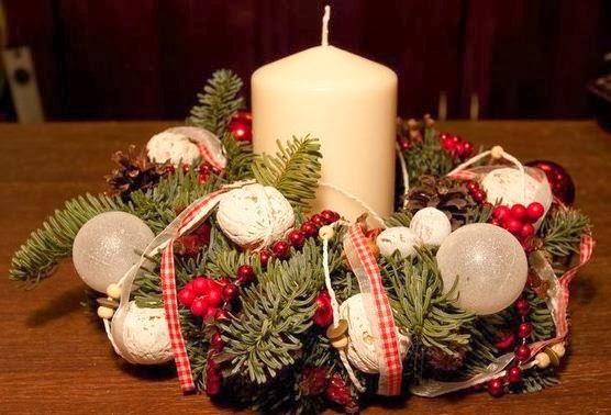 Centros de mesa navide o paso a paso cositasconmesh for Centros navidenos con velas