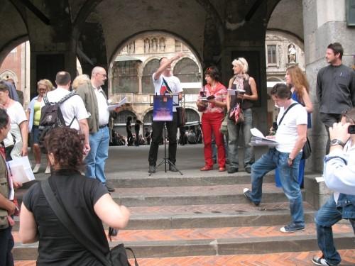 Carovana dei versi in Piazza dei Mercanti a Milano domenica 9 Giugno 2013