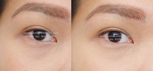 Before and after Benefit Air Patrol BB Cream Eyelid Primer