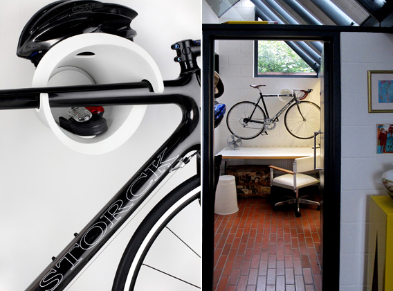 Wall mounting can be beautiful the minimalist Cycloc is a simple but cleverly designed disc that comes in four strong colours for £59. & Cycle storage | YOUR HOME IS LOVELY