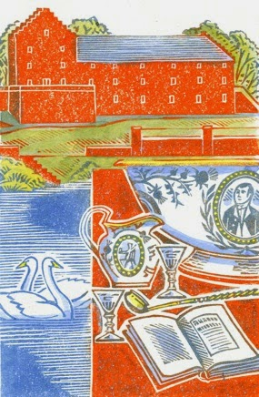 Clare's illustration of the Robert Burns centre