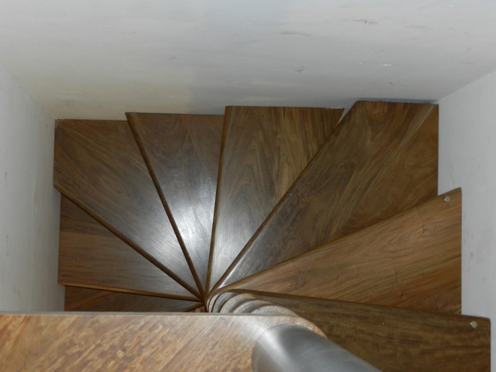 Escalera caracol de lapacho nativa pisos y equipamiento for Escalera caracol 2 pisos