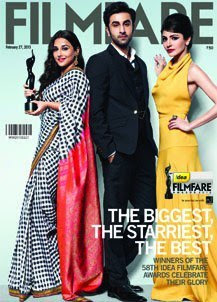 Ranbir, Vidya Balan & Anushka Sharma on the cover of Filmfare