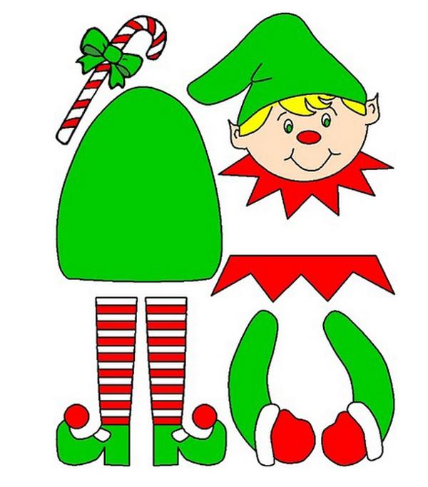 Molde de duende de Navidad para imprimir | Manualidades