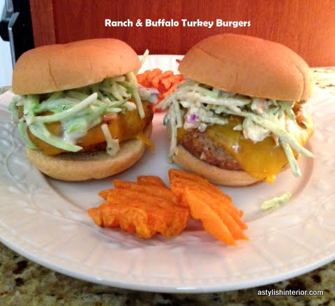 Stylish Interior: Ranch & Buffalo Turkey Burgers