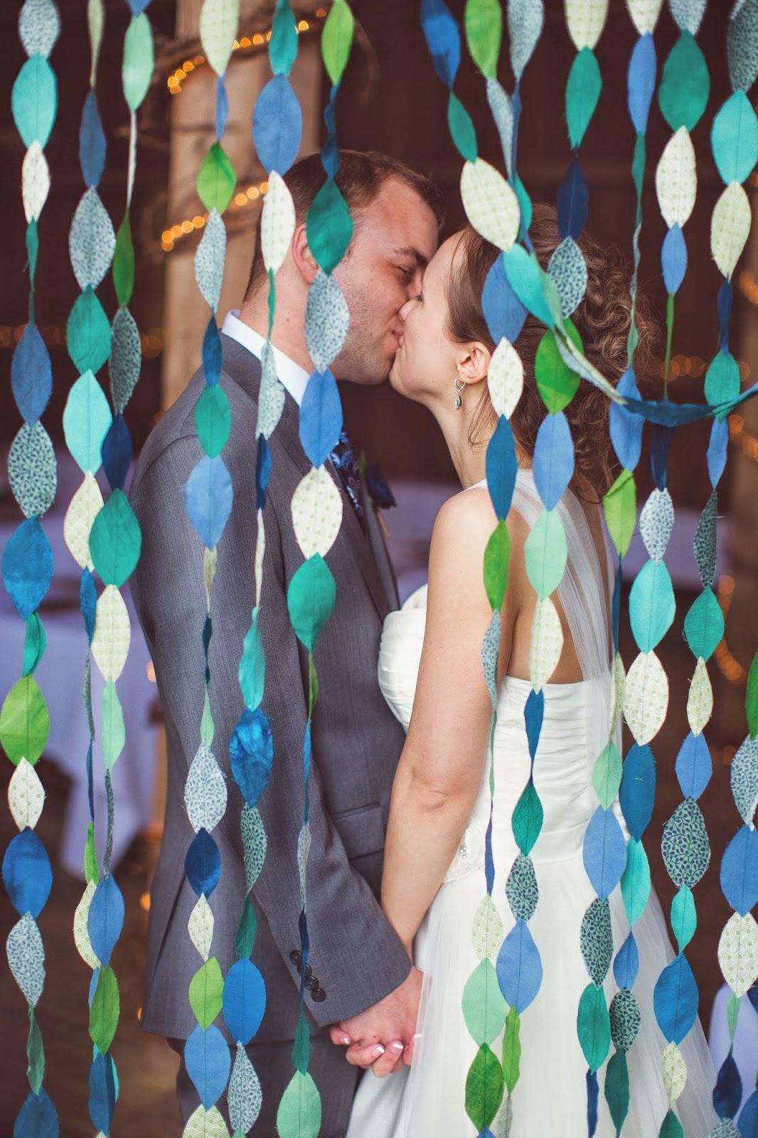 fabric leaf garland wedding arch