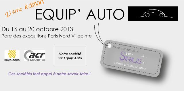 Conception Réalisation Stand Equip'Auto 2013