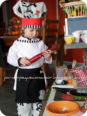 Para mi peque con amor: De carnavales... Disfraz de cocinero