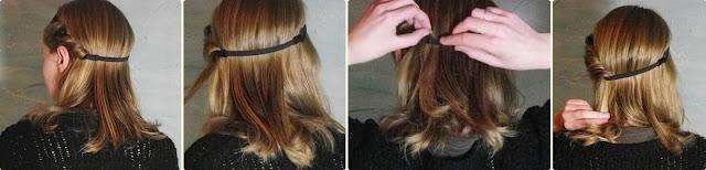 coiffure avec headband