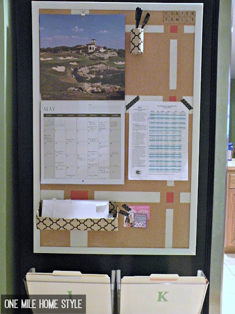 Small Space Family Command Center - Then and Now   One Mile Home Style