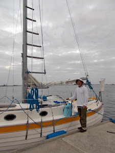 Dave, a former deep sea diver from  New Orleans, heading for the Caribbean, aboard  MOLLY GRACE.
