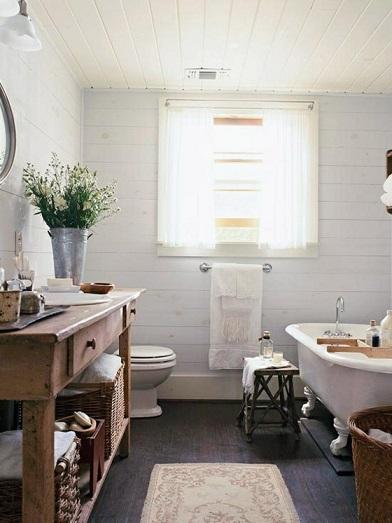 Ideas Para Decorar Baños Rusticos:15 Estupendas Ideas para Decorar Baños Rústicos – Colores en Casa