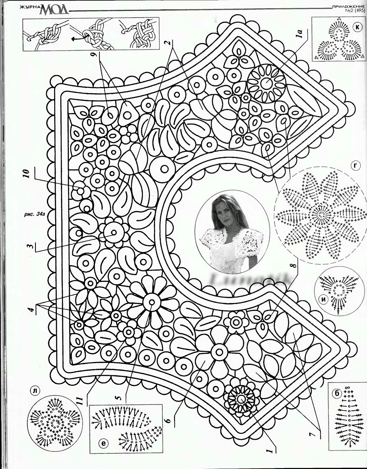 guandesign guna andersone Irish crochet pattern