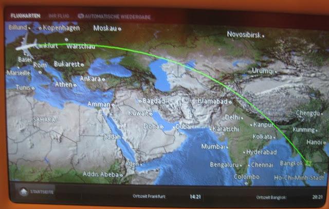 Thai A380 Route FRA - BKK