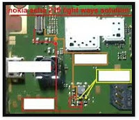 Nokia 210 lcd lights without transistor