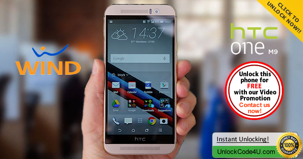 Factory Unlock Code HTC One M9 from Wind