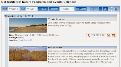 New Wisconsin state park, forest, trail events and nature programs calendar available
