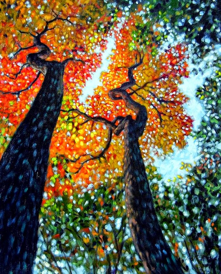 paisajes-cuadros pintados-al-oleo-en-lienzos-de-diferentes-formatos