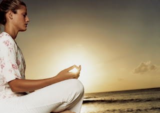 Young woman meditating_hip labral tear