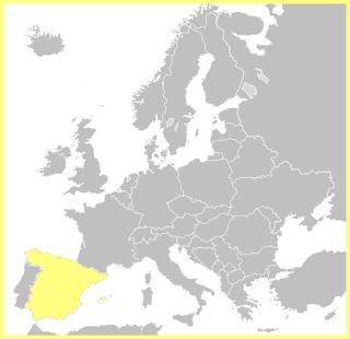 Mapa España en Europa