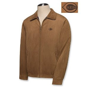 Big and Tall Cincinnati Reds Microsuede Jacket