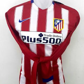 Gambar desain terbaru foto photo kamera Jersey lengan panjang Athletico Madrid home terbaru musim 2015/2016 kualitas grade ori di enkosa sport lokasi di jakarta pasar tanah abang