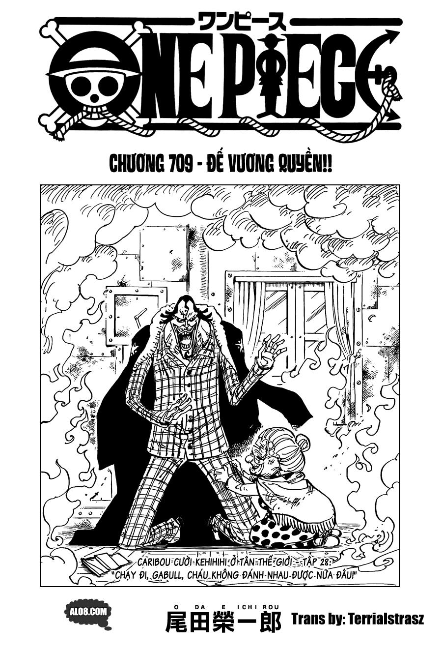 One Piece Chapter 709: Đế vương quyền 001