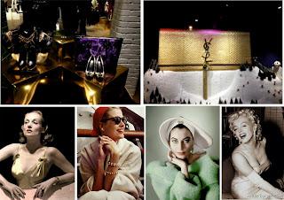 Selfridges, windows, visual merchandiser, oxford street, London, glamorous hollywood movies, YSL