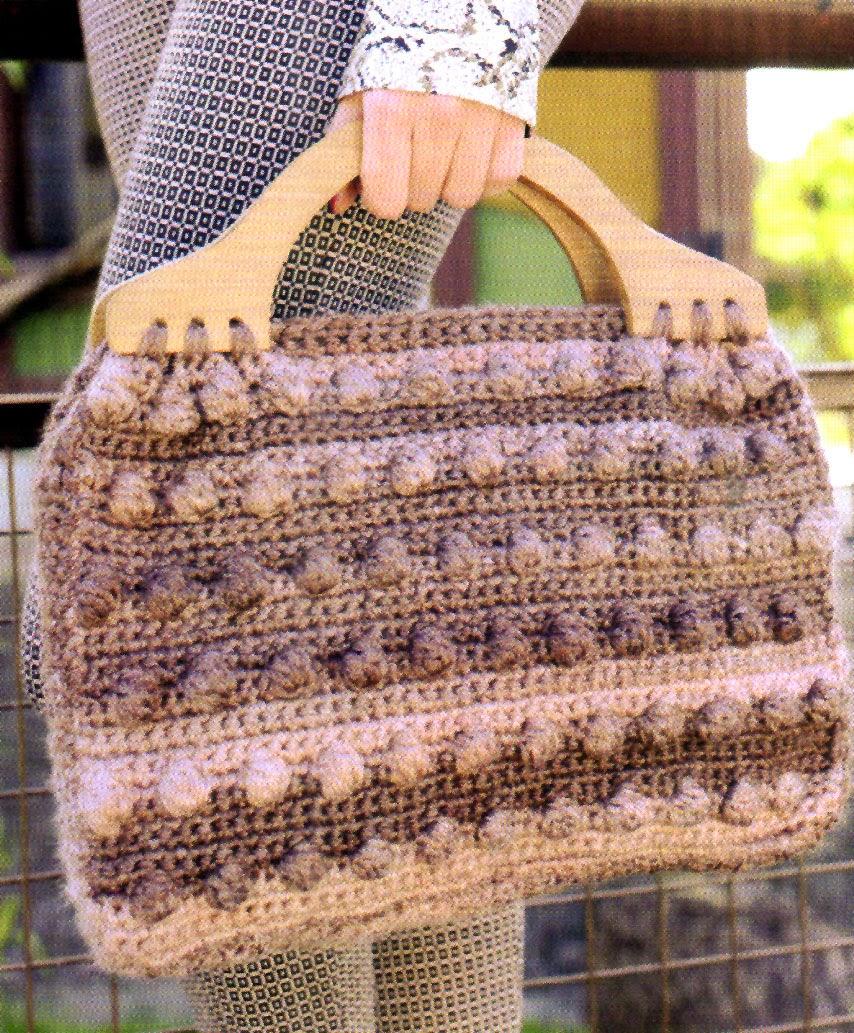 cartera tejida al crochet con patrones