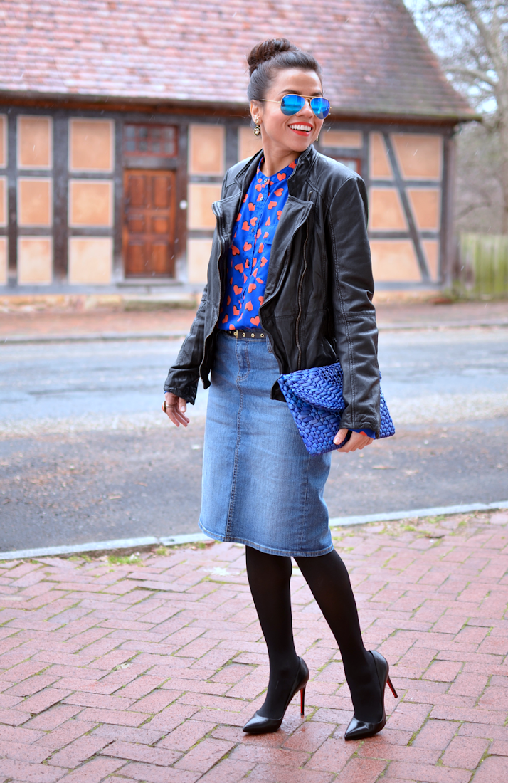 Outfit with heart print