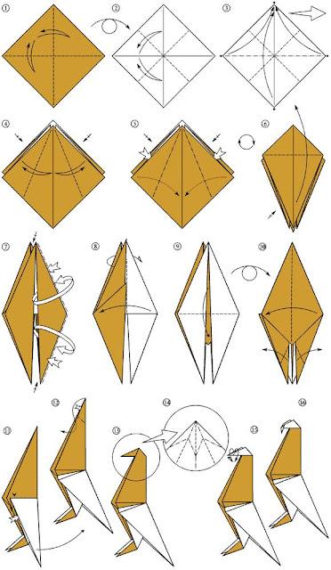 Оригами из уголков