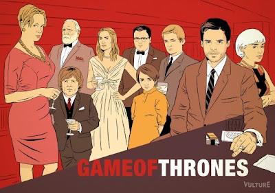 Mad Men poster juego de tronos - Juego de Tronos en los siete reinos