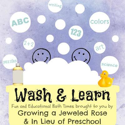 Bath time learning fun