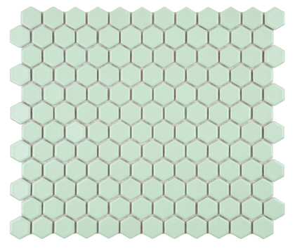 mint hexagon tile