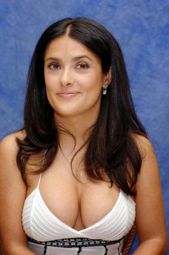 Salma Hayek Cleavage Stills Salman Khan Hd Wallpaper
