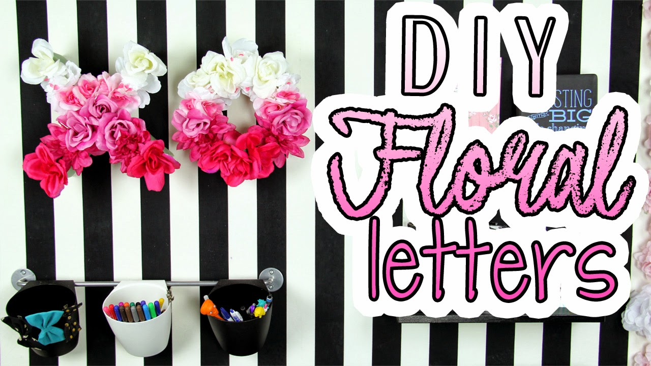 decorateyou room decor dollar store crafts diy floral letters