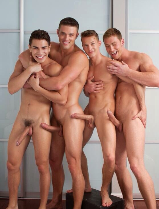 Nude men together