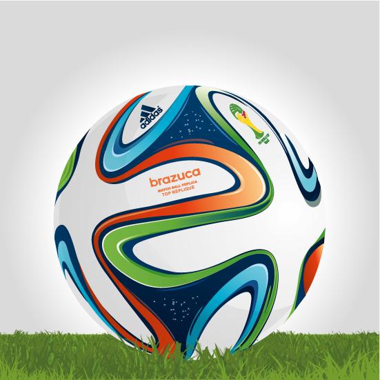 Brazuca, balón oficial Brasil 2014 - Vector