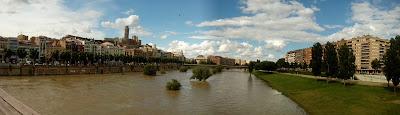 Lérida Lleida Segre crecida