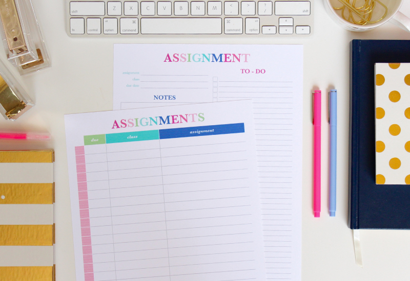 Never miss a due date with this Assignments List Printable!