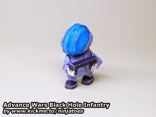 Advance Wars - Black Hole Infantry Papercraft Model